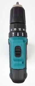Die Draufsicht des Makita HP331D Akku Schlagbohrschrauber